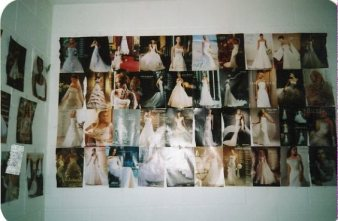 This was one portion of my room. Imagine this type of collage all over my walls...